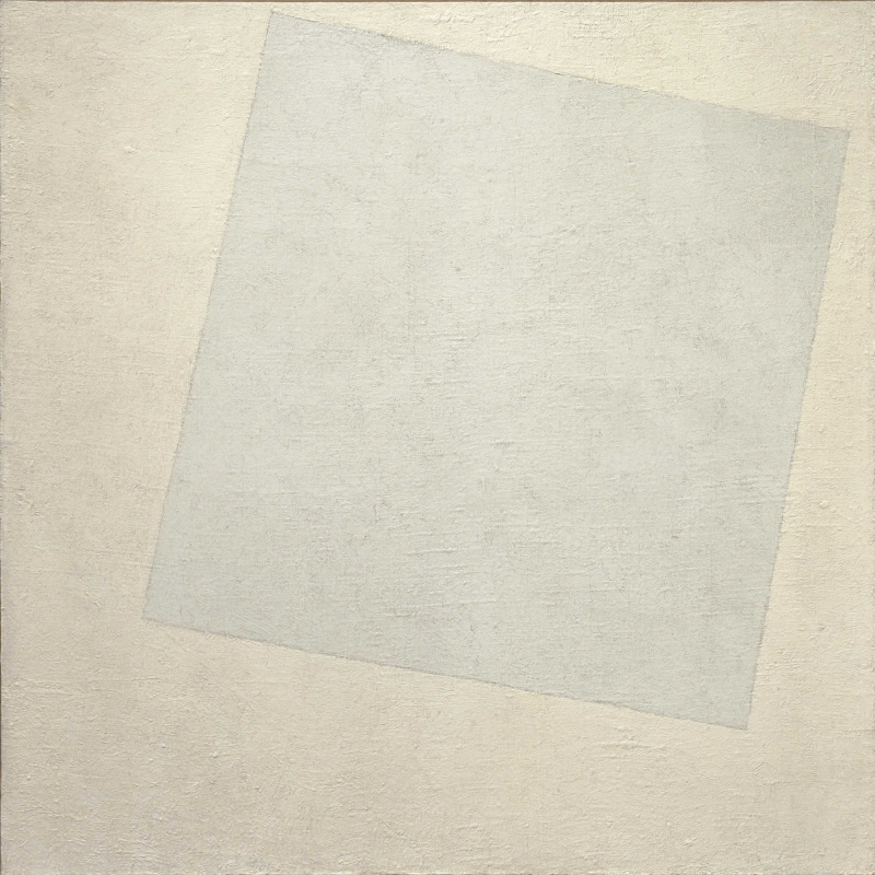 Kazimir Malevich. Suprematism: white on white
