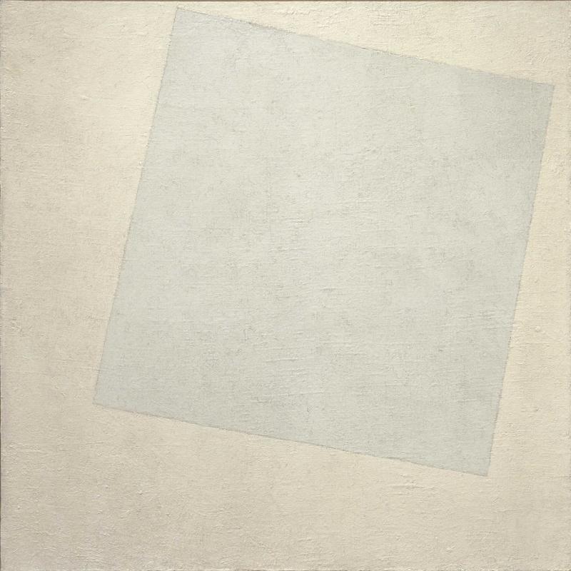 Kazimir Malevich. Suprematism: white on white