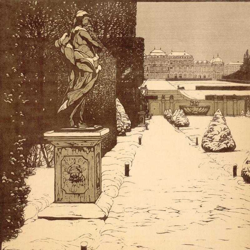 Карл Молль. Парк Бельведер зимой