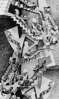 Дом с лестницами