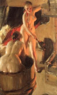 Даларнийские девушки в бане