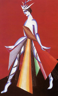 """Salome. Costume design for the tragedy of Oscar Wilde """"Salome"""". Moscow Chamber theatre"""