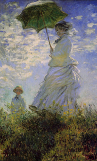 Женщина с зонтиком (Камилла Моне и сын Жан)