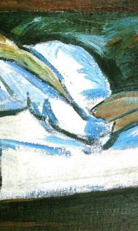 Портрет спящей Натальи Гончаровой