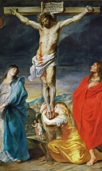 Crucifixion with Mary Magdalene and St. John