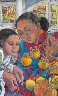 Girls with Persimmons