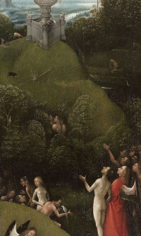 Earthly Paradise. The polyptych Visions of the underworld (Blessed and cursed). The left panel