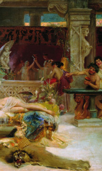Socrates finds his student Alcibiades from the Thais