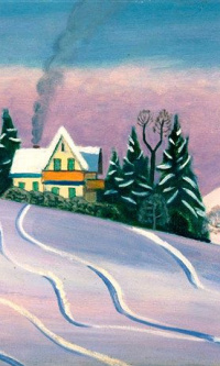 Winter landscape in Bavaria