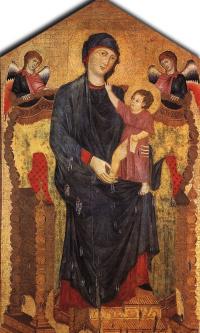 Мадонна на троне с Младенцем и двумя ангелами