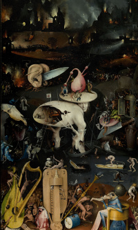 The garden of earthly delights. Music Hell. Right wing.