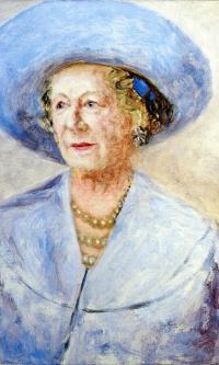 Портрет женщины в голубой шляпке