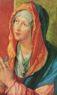 Дева Мария молится
