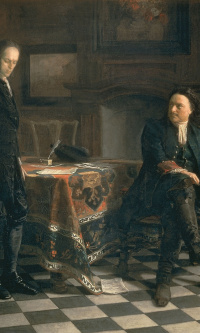 Peter the great interrogating the Tsarevich Alexei Petrovich in Peterhof