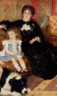 The portrait of Madame Charpentier with children