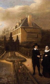 Портрет Йохана Корнелиса Видгебума и его жены Анникен в саду их дома