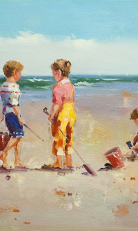Children and the sea. N4