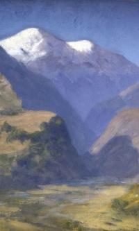 Снежные вершины гор. Кавказ
