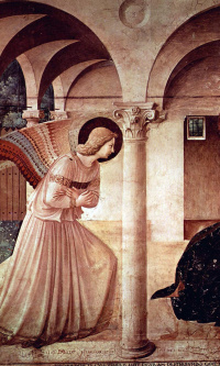 Annunciation. Fresco of the northern corridor of the monastery of San Marco, Florence
