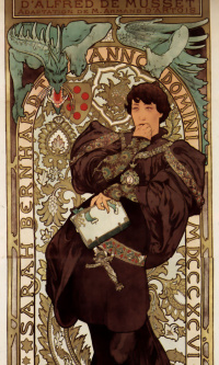 Лорензачио. Рекламный плакат для Сары Бернар