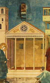 Величание простого человека (Юродивый предсказывает грядущую славу молодому Франциску)