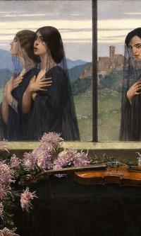 Four strings violin