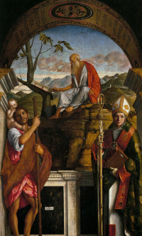 Saint Christopher, Saint Jerome and Louis of Toulouse