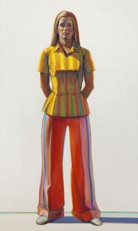 Женщина в полосатой блузке