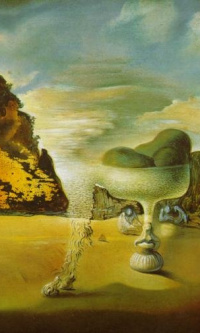 Invisible Afghan with Apparition, on the Beach, of the Face of Garcia Lorca, in the Form of a Fruit Dish with Three Figs