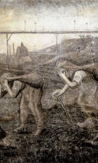 Угольщицы с мешками