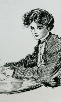 Gibson girl. 1905