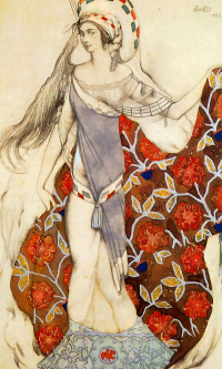 "Dancer. Costume design for the ballet ""the Confused Artemis"""