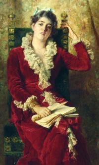 Портрет жены художника Юлии Павловны Маковской