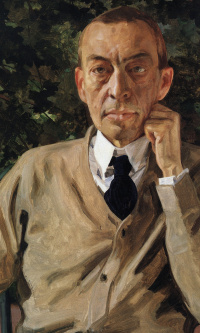 Portrait of the composer Sergei Rachmaninoff
