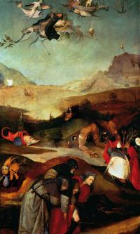 Искушение Святого Антония. Левая створка триптиха