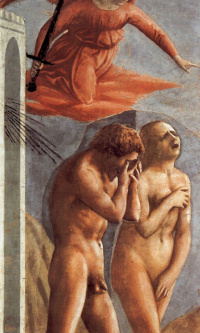 The expulsion of Adam and eve from the earthly Paradise