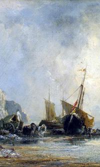 Лодки у берега Нормандии