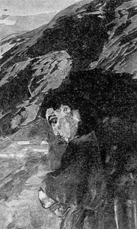 The demon, looking into the valley of Aragvi
