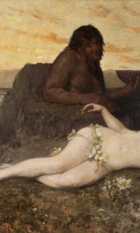 Reclining Naiad and Triton