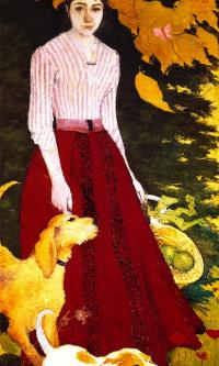 Мадам Боннар с собаками