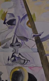 Salvador Dali <<Aphrodite's appearance>> watercolor 2018 New!
