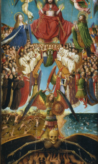 Judgment, wing of a diptych, a fragment