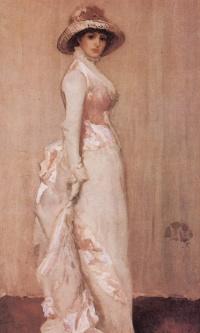 Pink-grey Nocturne. Portrait of a lady IU
