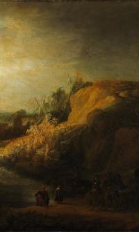 Пейзаж с крещением