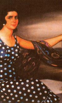 Девушка в платье в горошек