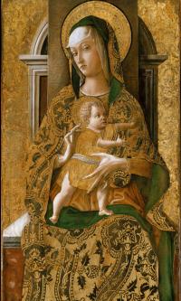 Мадонна с младенцем на троне