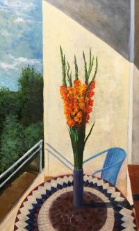 Gladiolus on the balcony