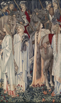 Серия «Поиски Святого Грааля». Отъезд рыцарей (Совместно с Эдвардом Бёрн-Джонсом)