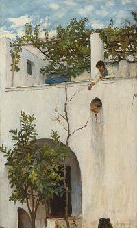 Девушка на балконе. Капри