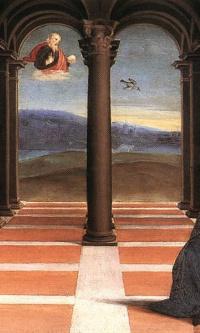 The Annunciation. The Altar Of The Oddi. Predella